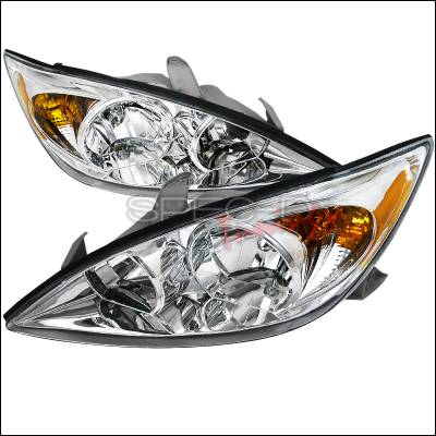 Headlights & Tail Lights - Headlights - Spec-D - Toyota Camry Spec-D Euro Headlights - Chrome Housing - 2LH-CAM02-RS