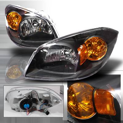 Headlights & Tail Lights - Headlights - Spec-D - Chevrolet Cobalt Spec-D Crystal Housing Headlights - Black - 2LH-COB05JM-KS