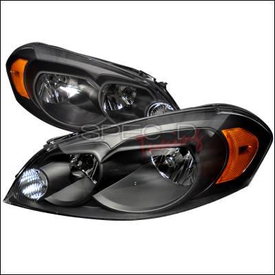 Headlights & Tail Lights - Headlights - Spec-D - Chevrolet Impala Spec-D Crystal Housing Headlights - Black - 2LH-IPA06JM-DP