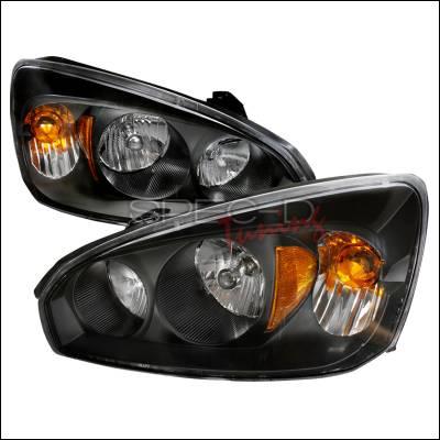 Headlights & Tail Lights - Headlights - Spec-D - Chevrolet Malibu Spec-D Crystal Housing Headlights - Black - 2LH-MBU04JM-KS