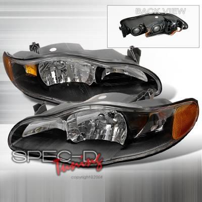Headlights & Tail Lights - Headlights - Spec-D - Chevrolet Monte Carlo Spec-D Crystal Housing Headlights - Black - 2LH-MONT00JM-KS