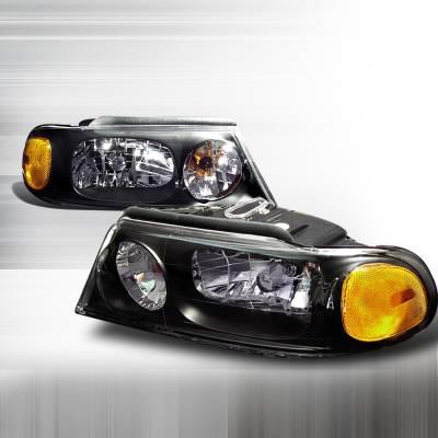 Headlights & Tail Lights - Headlights - Spec-D - Lincoln Navigator Spec-D Crystal Housing Headlights - Black - 2LH-NAV98JM-KS
