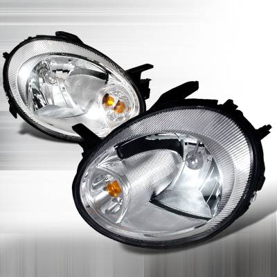 Headlights & Tail Lights - Headlights - Spec-D - Dodge Neon Spec-D Crystal Housing Headlights - Chrome - 2LH-NEO03-KS