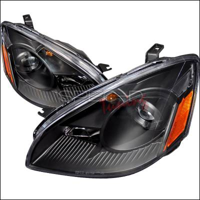 Headlights & Tail Lights - Headlights - Spec-D - Nissan Altima Spec-D Projector Headlghts - Black - 2LHP-ALT02JM-DP