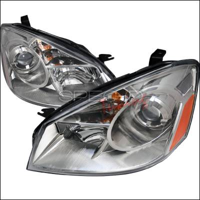 Headlights & Tail Lights - Headlights - Spec-D - Nissan Altima Spec-D Projector Headlghts - Chrome - 2LHP-ALT05-DP