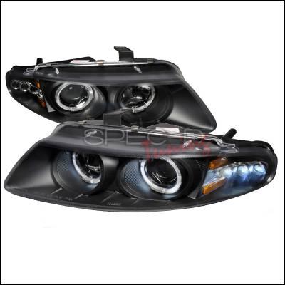 Headlights & Tail Lights - Headlights - Spec-D - Dodge Avenger Spec-D Halo LED Projector Headlights - Black - 2LHP-AVG97JM-TM