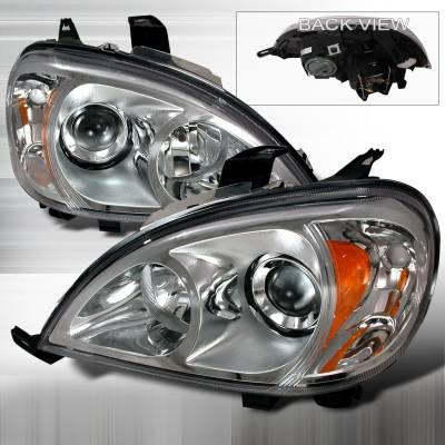 Headlights & Tail Lights - Headlights - Spec-D - Mercedes-Benz ML Spec-D Halo Projector Headlights - Chrome - 2LHP-BW16398-KS