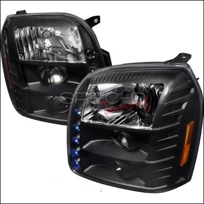 Headlights & Tail Lights - Headlights - Spec-D - GMC Yukon Spec-D Halo LED Projector - Black - 2LHP-DEN07JM-TM