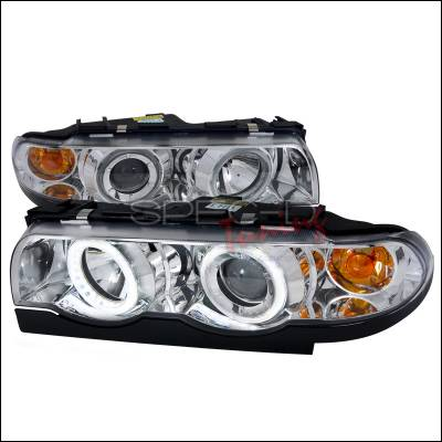 Headlights & Tail Lights - Headlights - Spec-D - BMW 7 Series Spec-D Projector Headlights - Chrome Housing - Day Light Ring - 2LHP-E3895-DL-APC