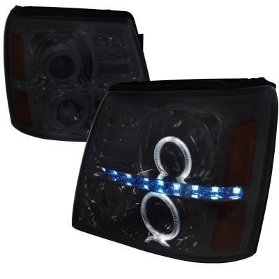 Headlights & Tail Lights - Headlights - Spec-D - Cadillac Escalade Spec-D Projector Headlights - 2LHP-ECLD02G-RS
