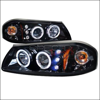 Headlights & Tail Lights - Headlights - Spec-D - Chevrolet Impala Spec-D Halo Projector Headlight Gloss - Black Housing - Smoke Lens - 2LHP-IPA00G-TM