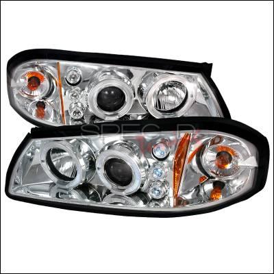 Headlights & Tail Lights - Headlights - Spec-D - Chevrolet Impala Spec-D Halo LED Projector Headlights - Chrome - 2LHP-IPA00-TM