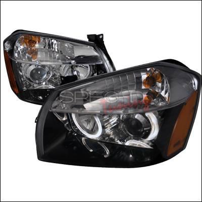 Headlights & Tail Lights - Headlights - Spec-D - Dodge Magnum Spec-D Projector Headlghts - Black - 2LHP-MAG05JM-DP