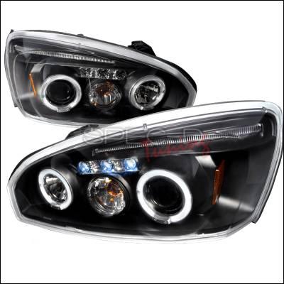 Headlights & Tail Lights - Headlights - Spec-D - Chevrolet Malibu Spec-D Halo LED Projector Headlights - Black - 2LHP-MBU04JM-TM