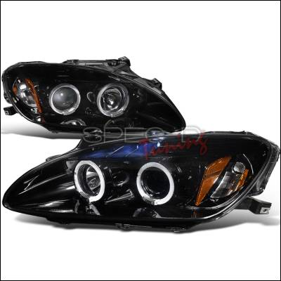 Headlights & Tail Lights - Headlights - Spec-D - Honda S2000 Spec-D Black Housing Projector Headlights - Smoked Lens Gloss - 2LHP-S2K04G-TM