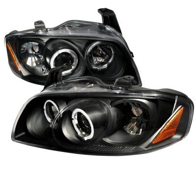 Headlights & Tail Lights - Headlights - Spec-D - Nissan Sentra Spec-D Black Projector Headlight - 2LHP-SEN04JM-TM