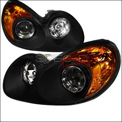 Headlights & Tail Lights - Headlights - Spec-D - Hyundai Sonata Spec-D LED Projector Headlights - Black Housing - 2LHP-SON02JM-RS