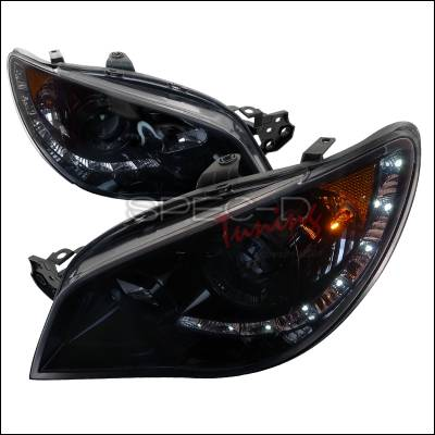 Headlights & Tail Lights - Headlights - Spec-D - Subaru Impreza Spec-D Projector Headlight - Smoked - 2LHP-WRX06G-TM
