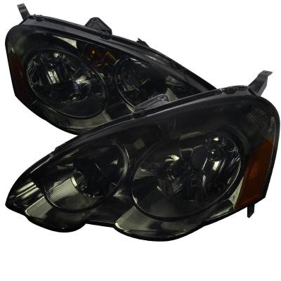 Headlights & Tail Lights - Headlights - Spec-D - Acura RSX Spec-D Headlights - Smoke - 2LH-RSX02G-RS