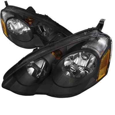 Headlights & Tail Lights - Headlights - Spec-D - Acura RSX Spec-D Headlights - Black - 2LH-RSX02JM-RS