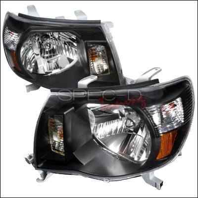 Headlights & Tail Lights - Headlights - Spec-D - Toyota Tacoma Spec-D Crystal Housing Headlights - Black - 2LH-TAC06JM-KS