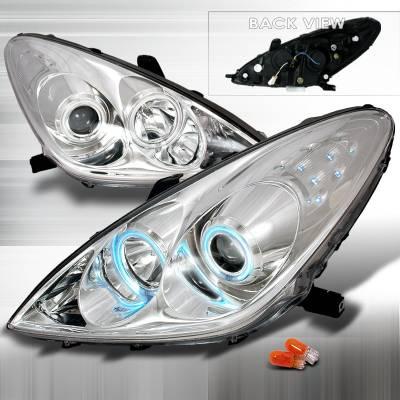 Headlights & Tail Lights - Headlights - Spec-D - Lexus ES Spec-D CCFL Halo Projector Headlights - Chrome - 3LHP-ES30005-KS