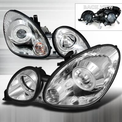 Headlights & Tail Lights - Headlights - Spec-D - Lexus GS Spec-D CCFL Halo Projector Headlights - Chrome - 3LHP-GS30098-KS