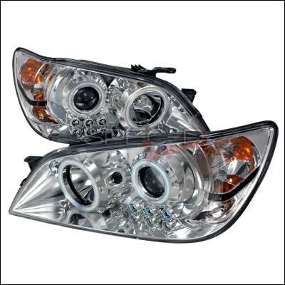 Headlights & Tail Lights - Headlights - Spec-D - Lexus IS Spec-D CCFL Halo Projector Headlights - Chrome - 3LHP-IS30001-KS
