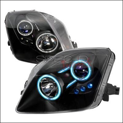 Headlights & Tail Lights - Headlights - Spec-D - Honda Prelude Spec-D CCFL Halo Projector Headlights - Black - 3LHP-PL97JM-KS