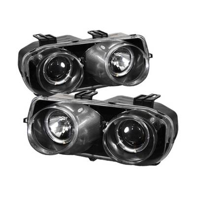 Spyder - Acura Integra Spyder Projector Headlights - LED Halo - Black - 444-AI94-HL-BK