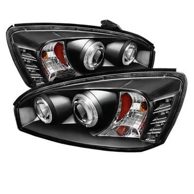 Headlights & Tail Lights - Headlights - Spyder - Chevrolet Malibu Spyder Projector Headlights - LED Halo - LED - Black - 444-CM04-HL-BK