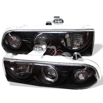Headlights & Tail Lights - Headlights - Spyder - Chevrolet Blazer Spyder Projector Headlights - LED Halo - Black - 444-CS1098-BK