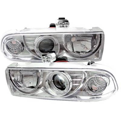 Headlights & Tail Lights - Headlights - Spyder - Chevrolet S10 Spyder Projector Headlights - LED Halo - Chrome - 444-CS1098-C
