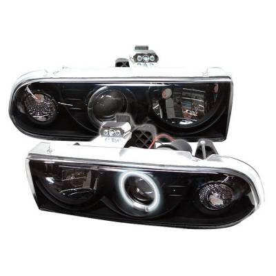 Headlights & Tail Lights - Headlights - Spyder - Chevrolet Blazer Spyder Projector Headlights - CCFL Halo - Black - 444-CS1098-CCFL-BK