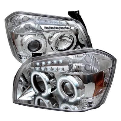 Headlights & Tail Lights - Headlights - Spyder - Dodge Magnum Spyder Projector Headlights - CCFL Halo - LED - Chrome - 444-DMAG05-CCFL-C