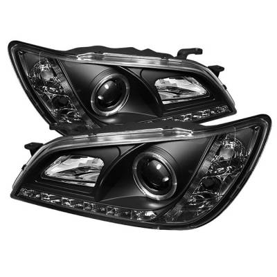 Headlights & Tail Lights - Headlights - Spyder - Lexus IS Spyder Projector Headlights - Xenon HID Model Only - LED Halo - DRL - Black - 444-LIS01-HID-DRL-BK