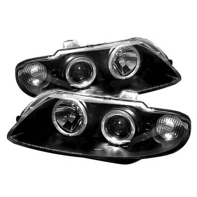 Headlights & Tail Lights - Headlights - Spyder - Pontiac GTO Spyder Projector Headlights - LED Halo - LED - Black - 444-PGTO04-HL-BK