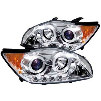 Headlights & Tail Lights - Headlights - Spyder - Scion tC Spyder Projector Headlights - LED Halo - Replaceable LEDs - Chrome - 444-TTC04-HL-AM-C