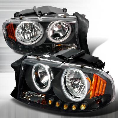 Headlights & Tail Lights - Headlights - Spec-D - Dodge Durango Spec-D Crystal Housing Headlights - Black - 4LH-DAK97HJM-KS
