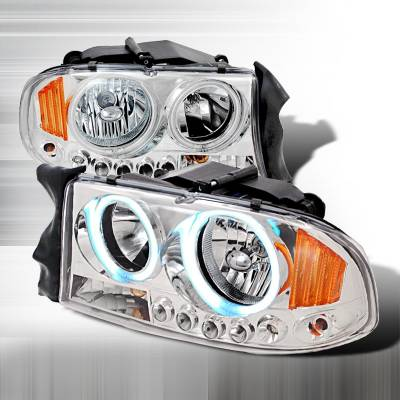 Headlights & Tail Lights - Headlights - Spec-D - Dodge Durango Spec-D Crystal Housing Headlights - Chrome - 4LH-DAK97H-KS
