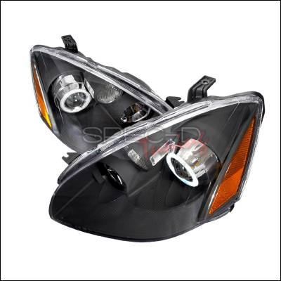 Headlights & Tail Lights - Headlights - Spec-D - Nissan Altima Spec-D CCFL Halo Projector Headlights - Black - 4LHP-ALT02JM-KS