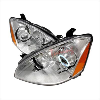 Headlights & Tail Lights - Headlights - Spec-D - Nissan Altima Spec-D CCFL Halo Projector Headlights - Chrome - 4LHP-ALT02-KS
