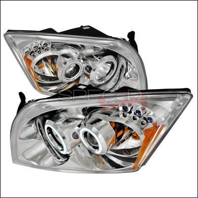 Headlights & Tail Lights - Headlights - Spec-D - Dodge Caliber Spec-D CCFL Halo Projector Headlights - Chrome - 4LHP-CAL06-KS