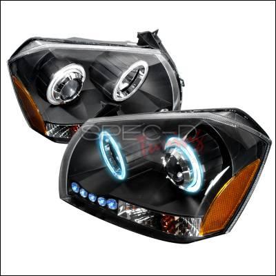 Headlights & Tail Lights - Headlights - Spec-D - Dodge Magnum Spec-D CCFL Halo Projector Headlights - Black - 4LHP-MAG05JM-KS