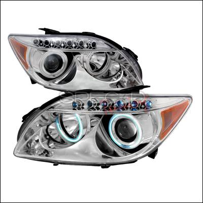 Headlights & Tail Lights - Headlights - Spec-D - Scion tC Spec-D CCFL Halo Projector Headlights - Chrome - 4LHP-TC05-KS