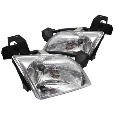 Headlights & Tail Lights - Headlights - Spyder - Chevrolet Venture Spyder Crystal Headlights - Chrome - HD-JH-CV97-C