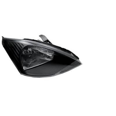 Headlights & Tail Lights - Headlights - Spyder - Ford Focus Spyder Crystal Headlights - Black - HD-JH-FF00-BK