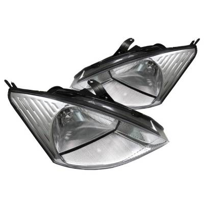 Headlights & Tail Lights - Headlights - Spyder Auto - Ford Focus Spyder Crystal Headlights - Chrome - HD-JH-FF00-C