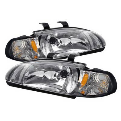 Headlights & Tail Lights - Headlights - Spyder Auto - Honda Civic 4DR Spyder Crystal Headlights - Chrome - HD-ON-HC921P-4D-AM-C