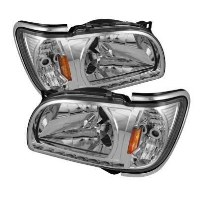 Headlights & Tail Lights - Headlights - Spyder - Toyota Tacoma Spyder Chrome Trim Corner Crystal Headlights - Chrome - 1PC - HD-ON-TT01-1PC-LED-CC-C